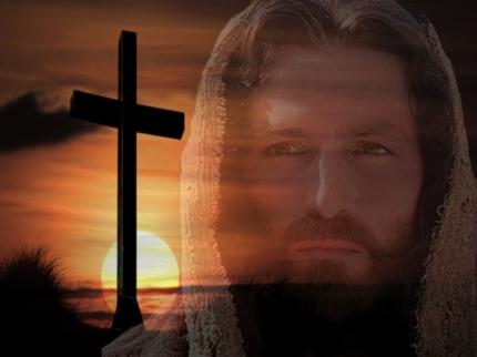 Jesus cross and sun